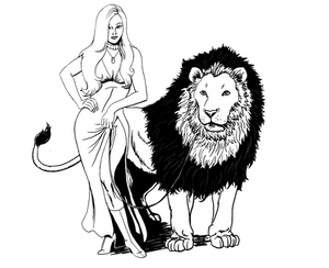 Circe and a Lion