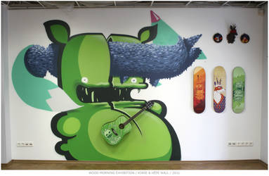 WOOD MORNING WALL by KIWIE-FAT-MONSTER