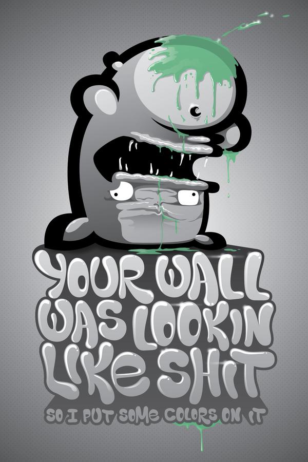 SHIT WALL by KIWIE-FAT-MONSTER