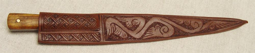 Medieval knife sheath