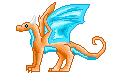 Pixel Dragon by Ilovedragons1
