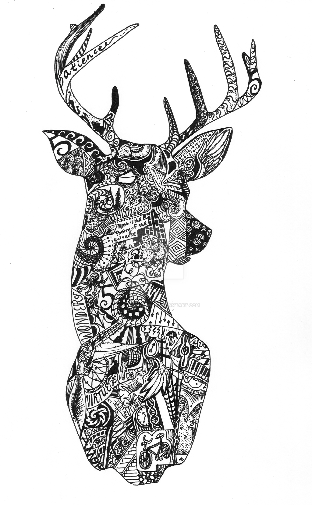 Abstract Deer Silhouette By Ilovedragons1 On DeviantArt