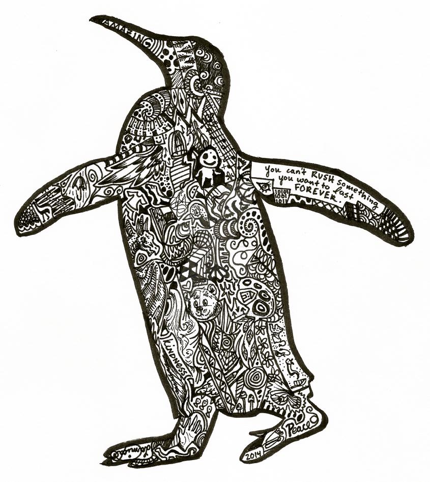 abstract penguin silhouetteilovedragons1 on deviantart