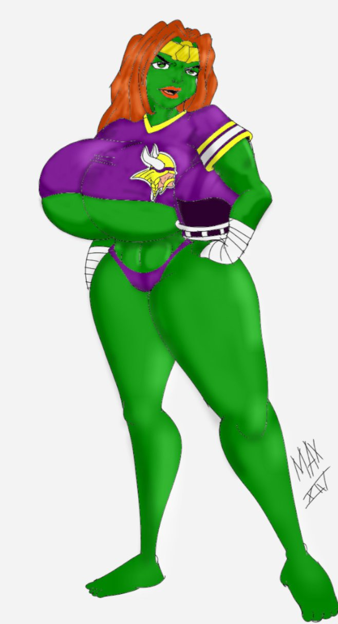 Go Vikings Go from the Savage She Hulk by michiganj24