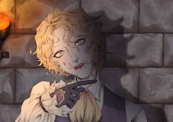 Vampire AU Hibrel by Doodlenab