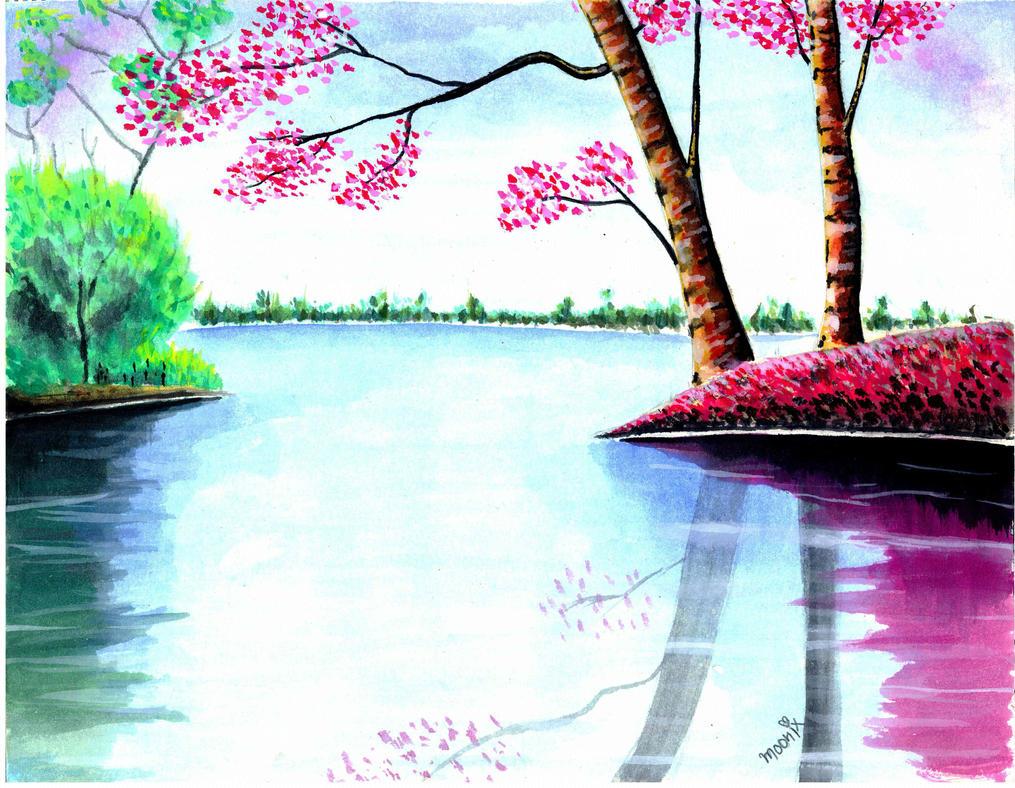 U Uuu 2017 >> Nature Love -watercolors Painting by moonix-20 on DeviantArt