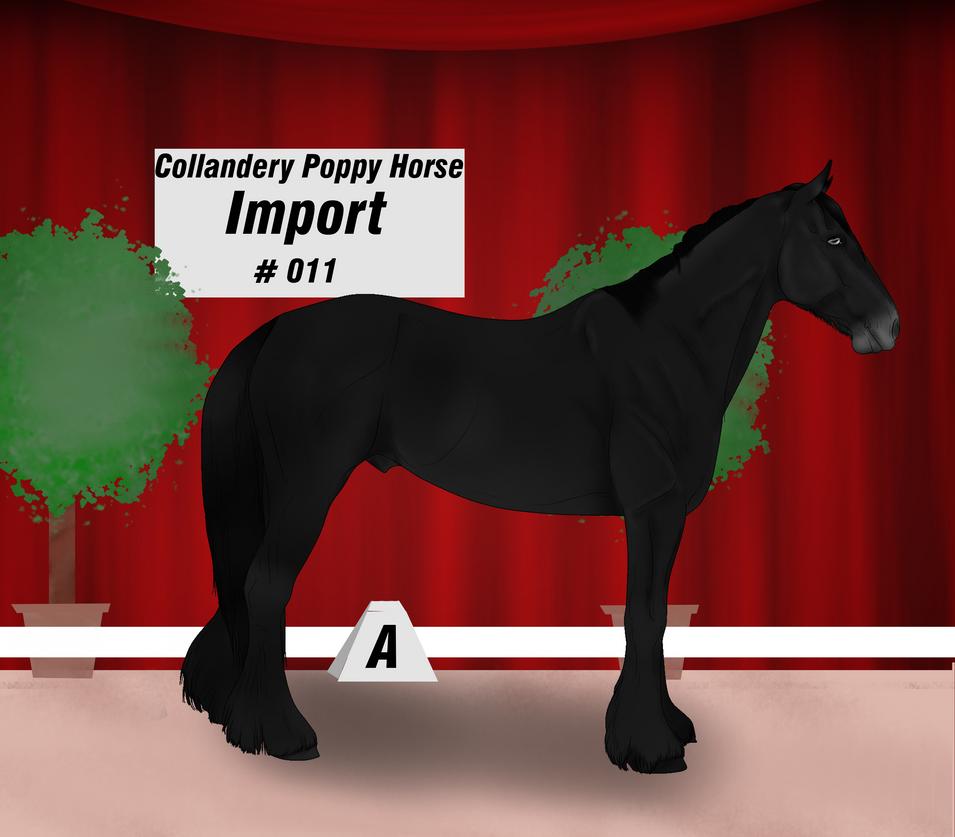Collandery Poppy Horse #011 by NorthernMyth