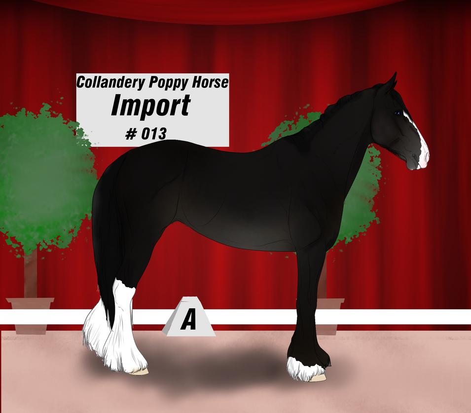 Collandery Poppy Horse #013 by NorthernMyth