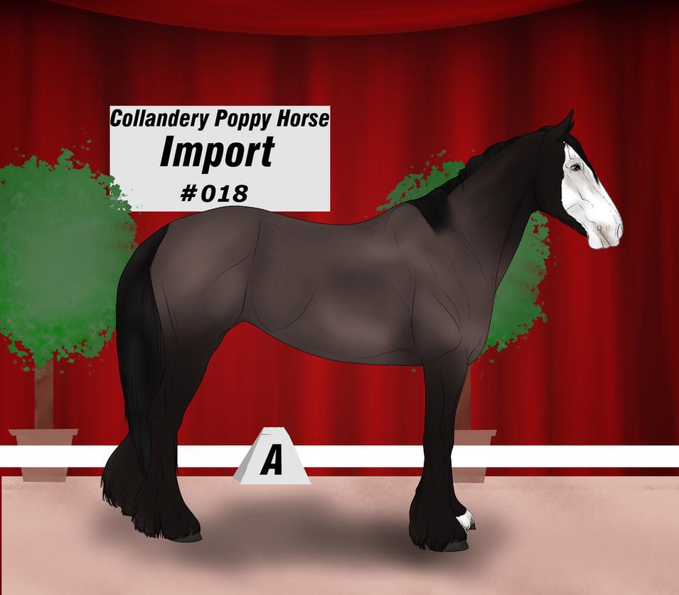 Collandery Poppy Horse #018 by NorthernMyth