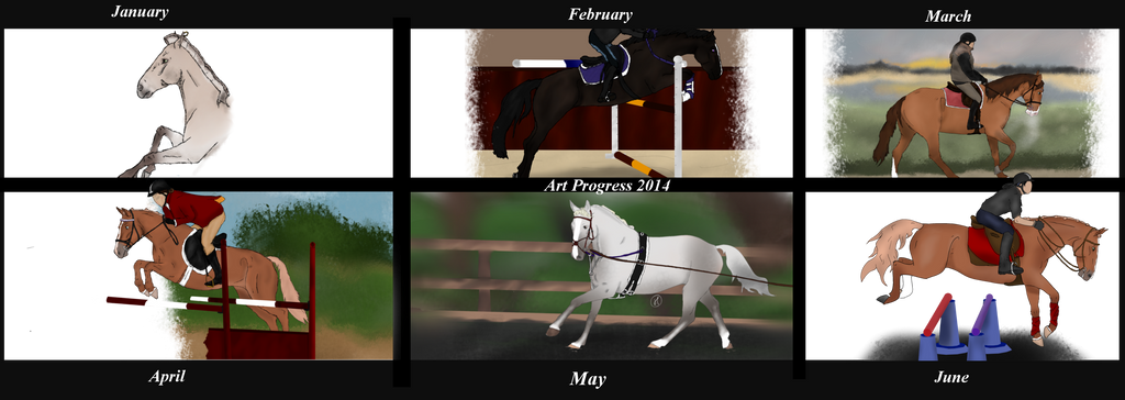 Art Progress 2014 Jan - June by NorthernMyth
