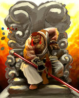 Monkey king trone by Ntocha