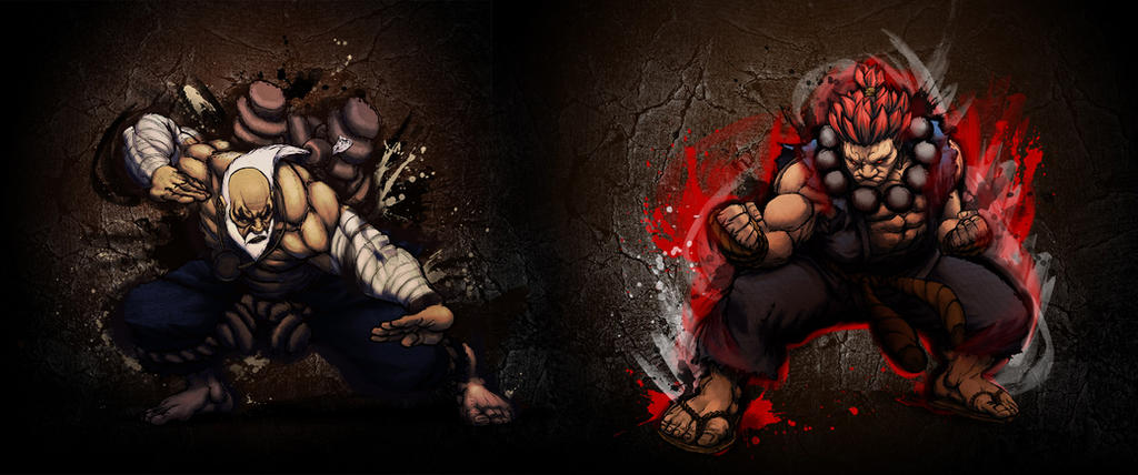 Gouken vs Akuma | Street Fighter | Pinterest | More Street fighter ...