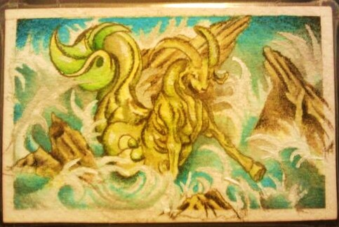 Art Trading Card No. 1 - Seagoat by DeviousE