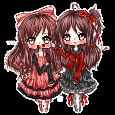 Chibi - gift [ NO BG - Lolita sisters ] by KikoChi