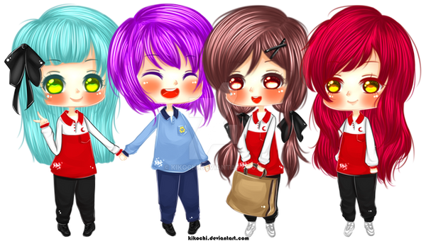 Chibi [ NO BG : My Best Friends and I ] by KikoChi on DeviantArt