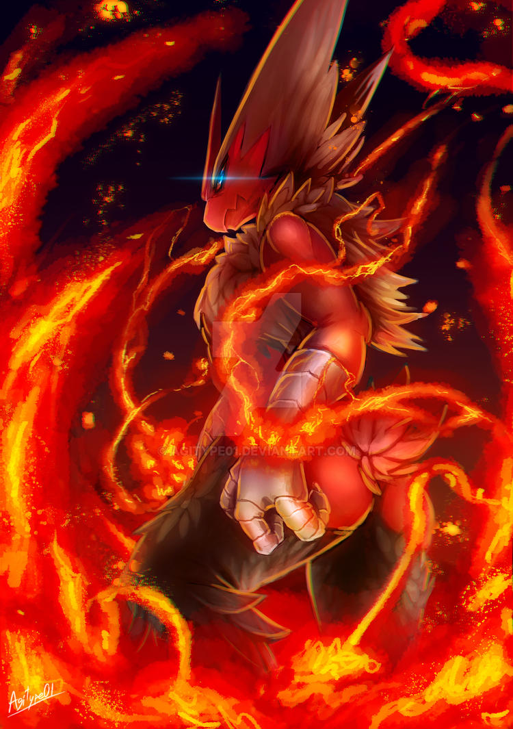 Mega Blaziken by Agitype01 on DeviantArt