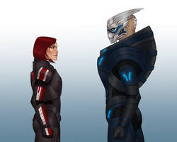 Commission- Shepard and Garrus