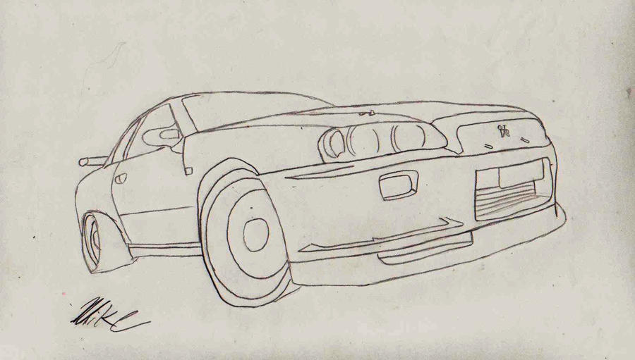 Nissan Skyline Sketch Nissan Skyline Sketch by
