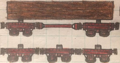 Wooden disconnect cars by Trains333