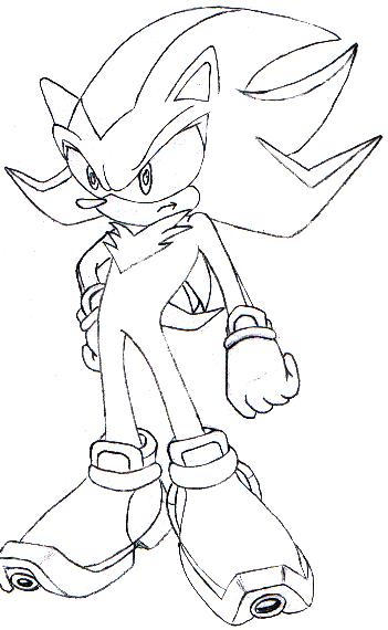 shadow the hedgehog coloring pages - shadow the hedgehog by knuckles zero kaiba on deviantart