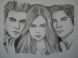 The Vampire Diaries Cast by Tammy--J