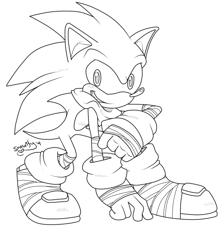 sonic wolf coloring pages - photo#15