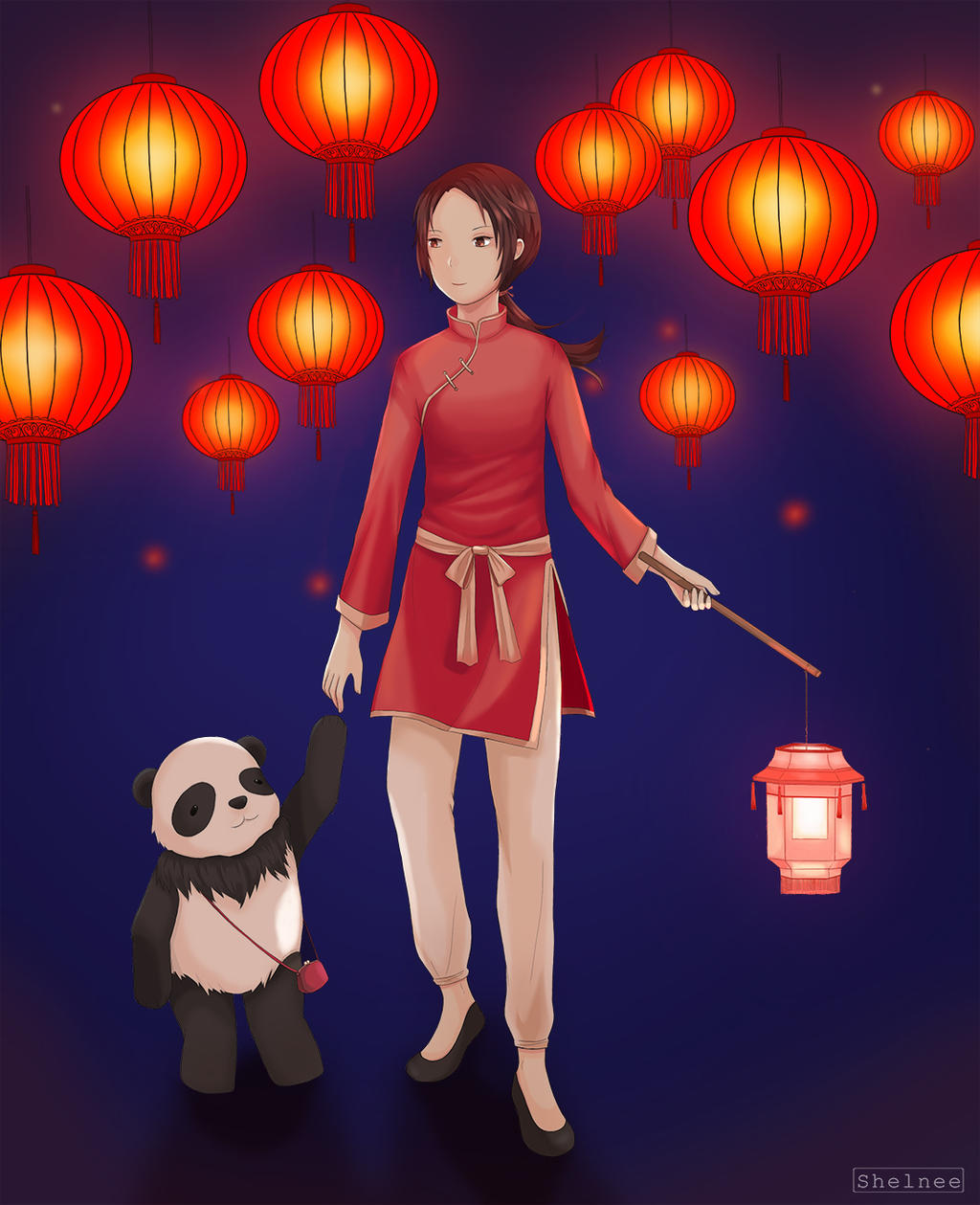 Chinese Lantern Festival (Hetalia Fanart) by ShelneeLynn