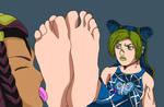 Jolyne's Foot Worship (Commission)