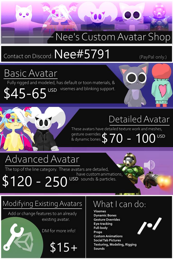 COMMISSION INFO) Custom VRChat Avatars! by neetroo on DeviantArt