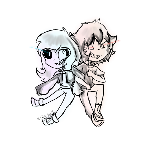 Junior And Dana (villainous AU) by jewlydarkness