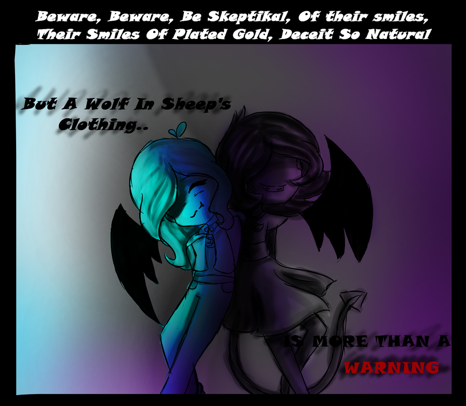 song lines~ wolf in sheep's clothing (OC Dana) by jewlydarkness