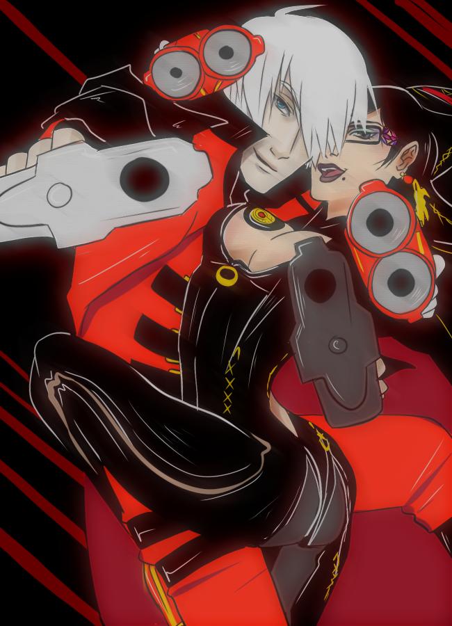 Dante x Bayonetta by arcanehalo
