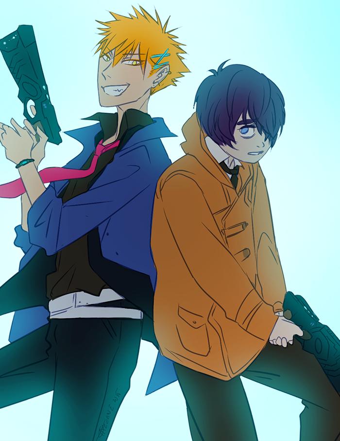 Ikura and Hayate cosplay Psycho-Pass by arcanehalo
