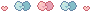 [ Pixel ] cute bow divider - pink and blue