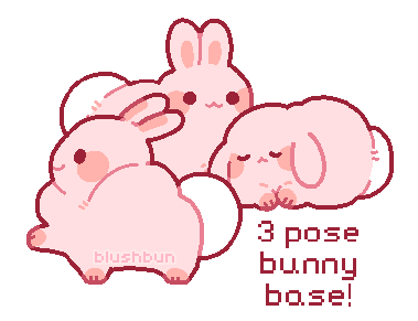 [Base] 3 pose bunny base!