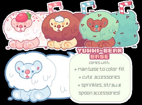 p2u base - yummy bears! psd + ms paint friendly!