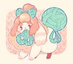 the yarn bun!