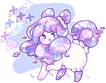 custom flufferbun: pastel galaxy cake! by plushpon