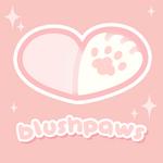 blushpaws logo! by plushpon