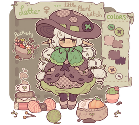 latte - little plant witch - reference