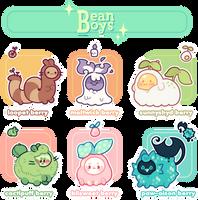 [CLOSED] Summer Harvest! BeanBoys Batch by plushpon