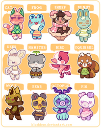 CLOSED - MORE VILLAGER ADOPTS! by plushpon