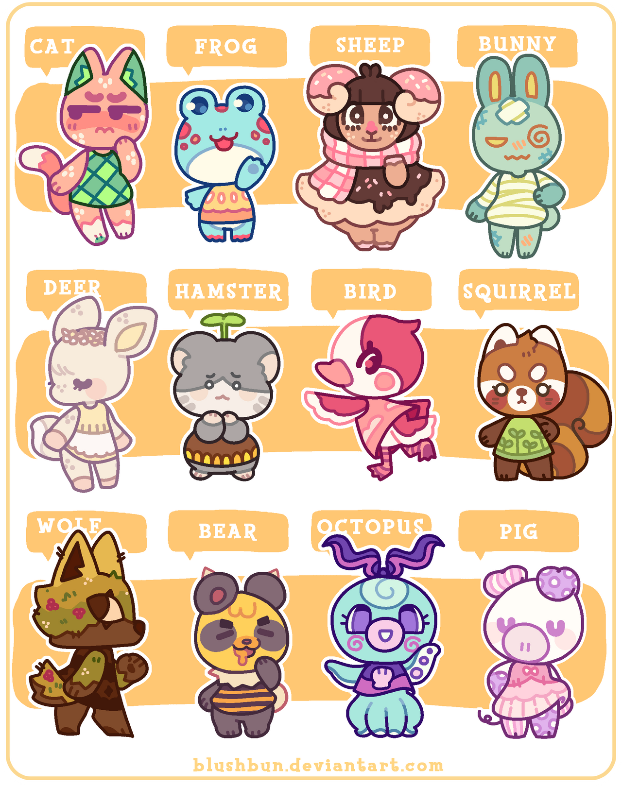 Closed More Villager Adopts By Plushpon On Deviantart