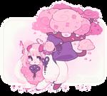 custom flufferbun: cherry blossom pixie