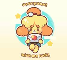 isabelle's long deserved break! by plushpon