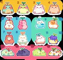OPEN 2 left! - hamham bean adopt batch! by plushpon