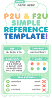F2U / P2U Simple reference / profile template! by plushpon