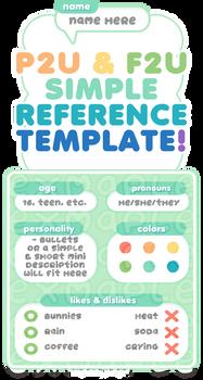 F2U / P2U Simple reference / profile template!