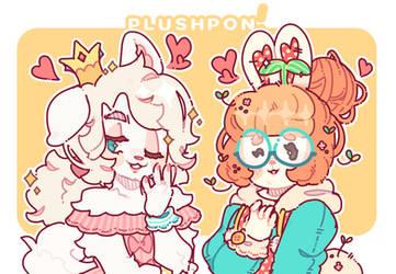fluffy dorks by plushpon