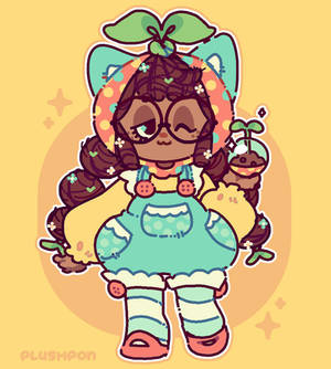 Pon the little gardening doll!